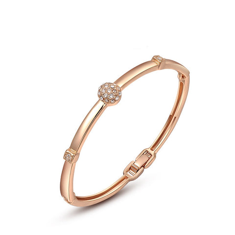 Cubic Rose God Bangle/Bracelet