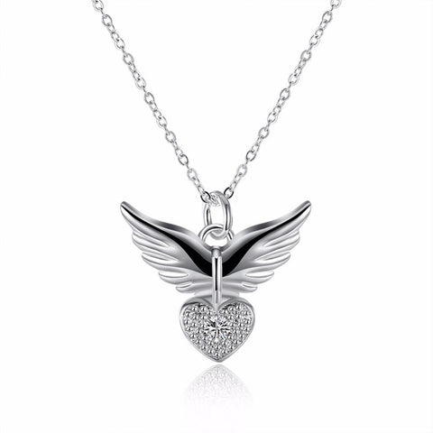 CJ Angel Heart Wings Necklace