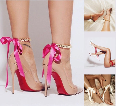 Ribbon Bowknot Anklets (Various colours)