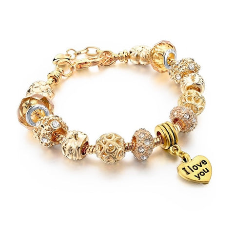 """Angie Love"" -  Gold Bracelet"