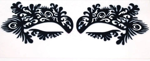 Venetian Artistic Eye Mask - Black