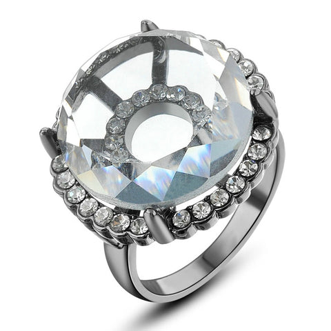Austrian Crystal Cocktail Ring (Sizes 6/9)