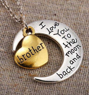 Brother - Moon/Back Necklace