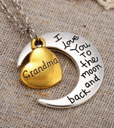 Grandma - Moon/Back Necklace