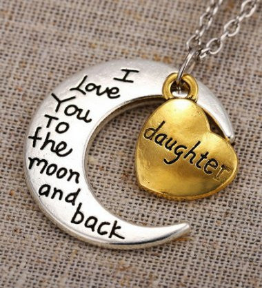 Daughter - Moon/Back Necklace