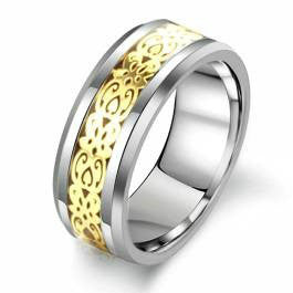 3D Vintage  Dragon Tungsten Ring