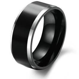 Fine Black Tungsten Ring