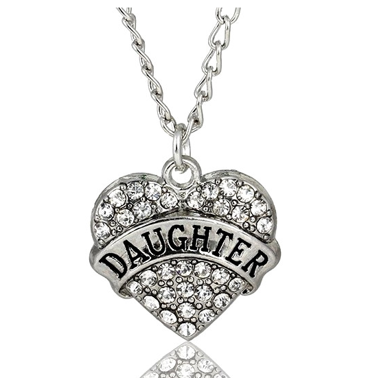 Daughter (Heart) - Moon/Back Necklace