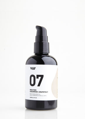 07 Breather | Moisturising Body Oil | Cedarwood + Grapefruit