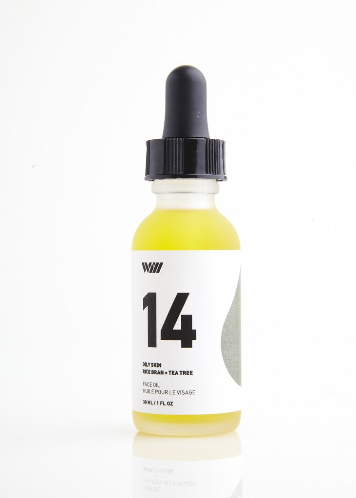 14 Oily Skin | Face Oil Serum | Rice Bran + Tea Tree