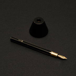 Desk Fountain Pen - 'Brassing' Black