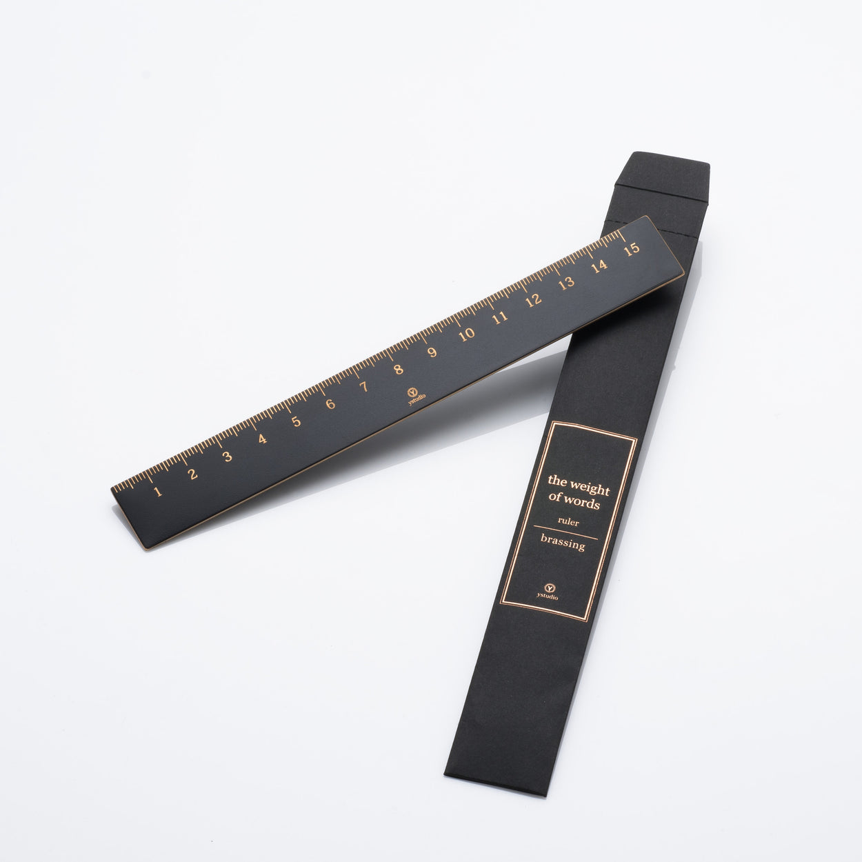Ruler - 'Brassing' series Black - Langsom