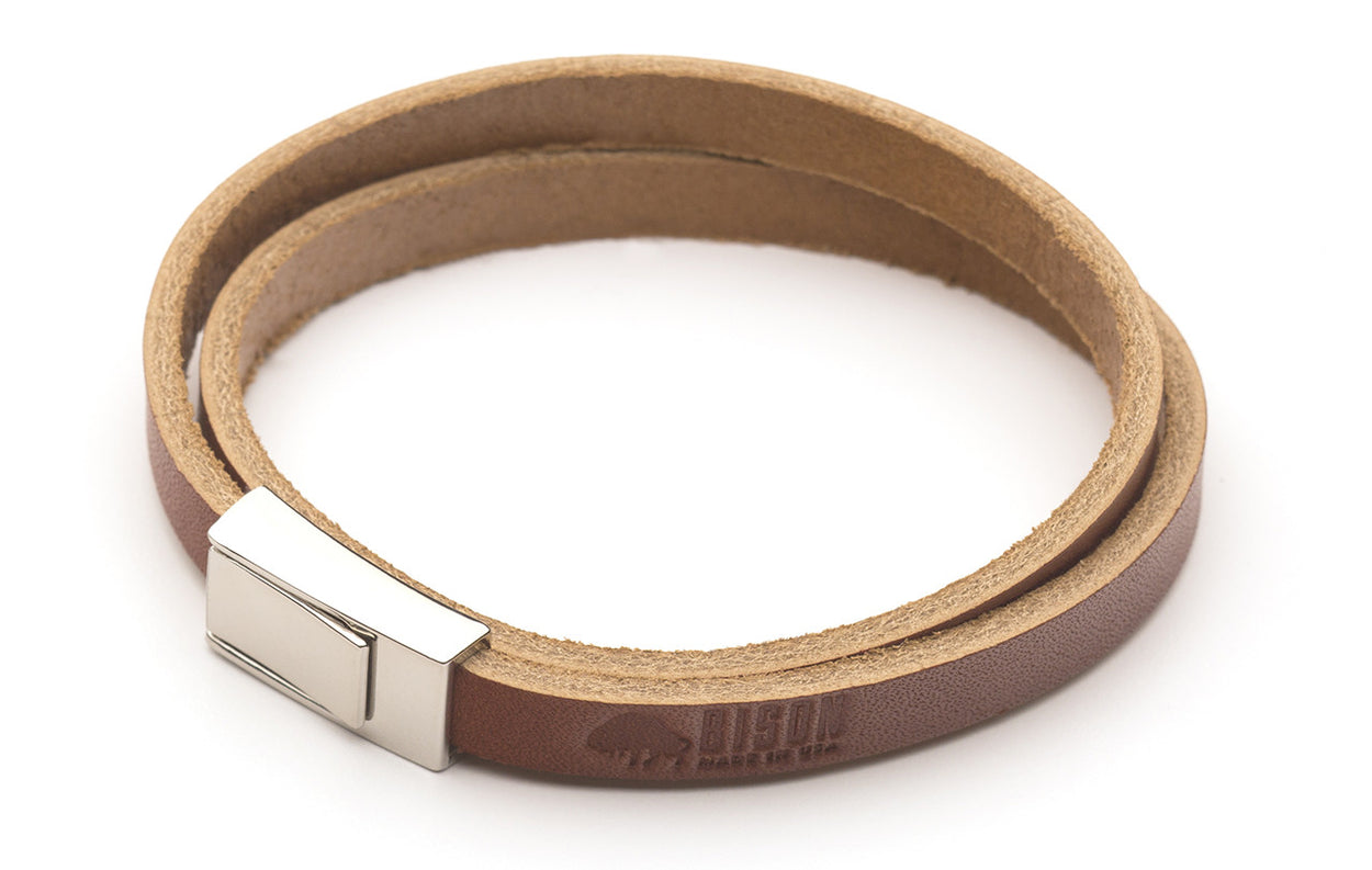 Leather Double Wrap Bracelet - Langsom