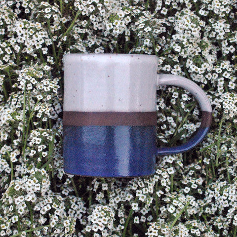 Double-Dipped Coffee Mug - Blue & Cream - Langsom