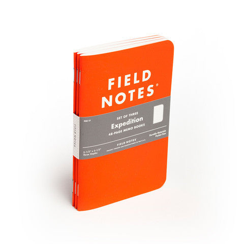 Field Notes Expedition Edition - 3 Pack - Langsom