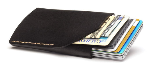 No. 2 Wallet - Jet Top Stitch (Black)