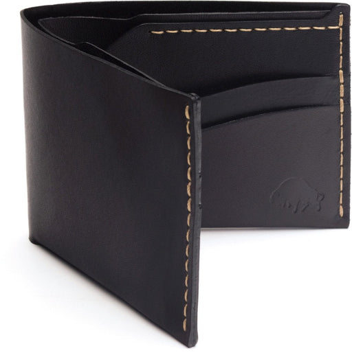 No. 6 Wallet - Jet Top Stitch (Black)