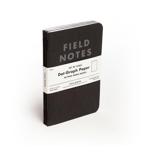 Field Notes Pitch Black - 3 Pack - Langsom