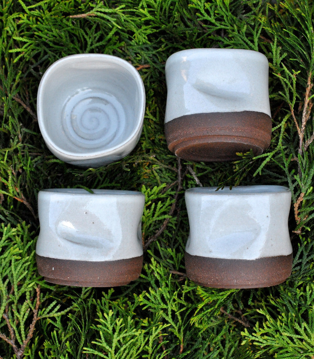 Dimpled Whisky Tumblers - Oregon Brown Clay - Langsom