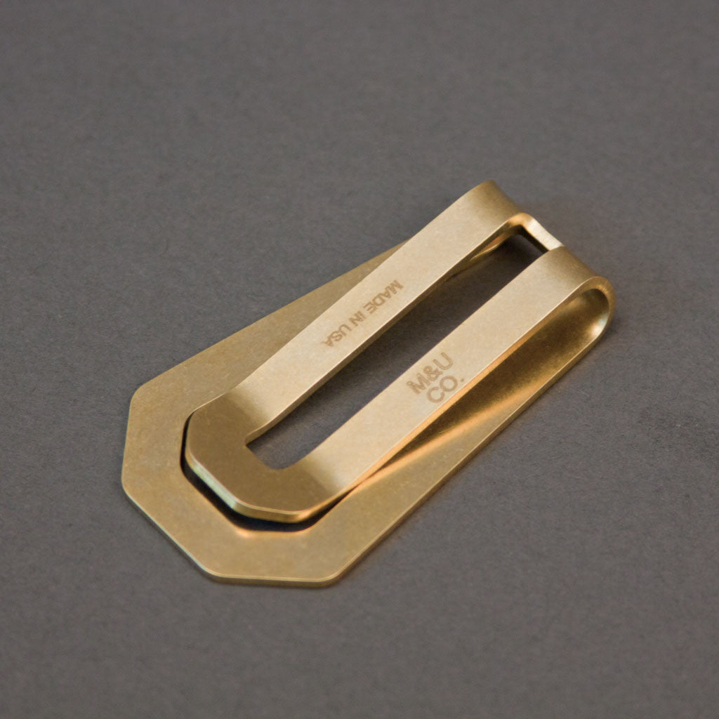 Money Clip - Brass - Langsom
