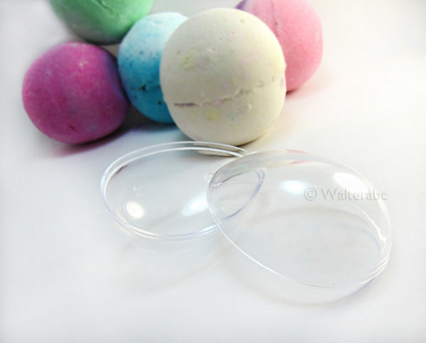 Egg Shaped Bath Bomb Molds - Clear Plastic Reusable - 2.48 inches / 63 mm