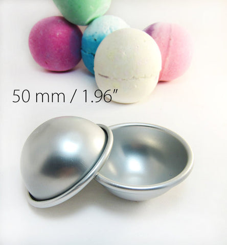 1 Metal Round Bath Bomb Mold 1.96 inches / 50mm (Small)