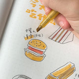 Muji Retro Color Highlighter Marker Pens / 3 Colors