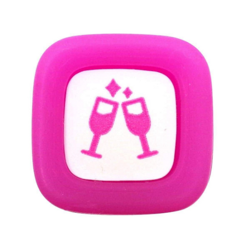 Pilot FriXion Erasable Stamps - Pink Celebration Icon for Planners, Organizers