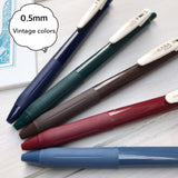 Zebra Sarasa clip Vintage Color Gel Ink Pens - 0.5mm, 5 Color Set #1