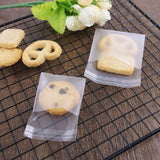 Frosted White Cello Treat Bags for Wedding Favors Cookies Candy- Self adhesive bag & Resealable, 100pcs