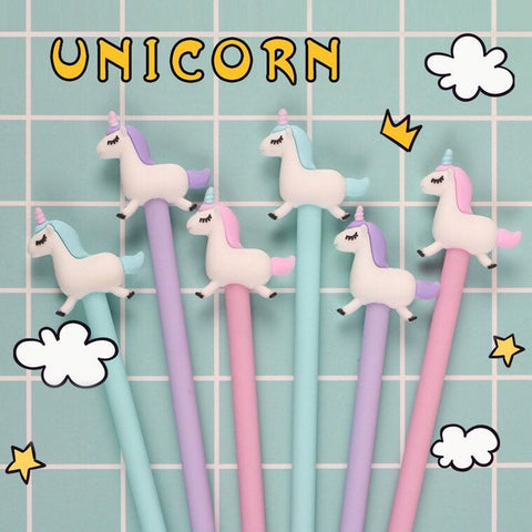Unicorn Party Favor Pens - wedding, birthday gift supplies, pink girly planner pens