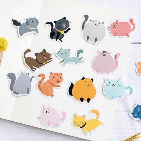 Funny Cat Lover Stickers - planner scrapbook, Gift Tag, Pet Animal Lovers