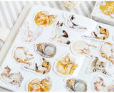 Cute Cat Lover Stickers - scrapbook planner diary, animal pet lovers, Gift Tag