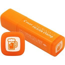 Pilot FriXon Erasable Stamp - Orange Beer Pattern for Planners, Schedulers