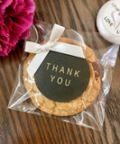Clear Cello Treat Bag for Cookies Wedding-Favors Candy, Self adhesive & Resealable, 100pcs