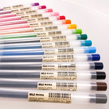 MUJI Moma Gel Ink Retractable Clip Pens -knock type, 16 colors to choose from