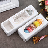 Macaron boxes for 5 macarons - Pastry Cookie Gift packaging /w PVC window