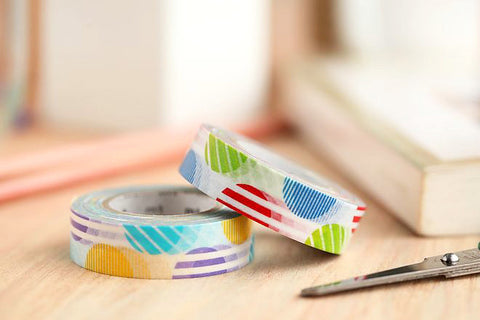 "Washi Tape SAMPLE 40"" Limited Edition Red/Purple Arch Japanese Masking Tape Buy 3 Get 1 FREE! (1m/1 yard)"