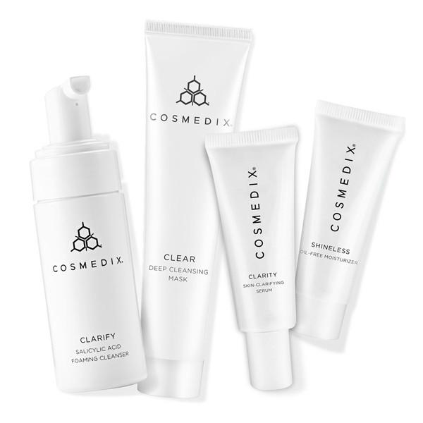 Clarifying and Cleansing 4-Piece Essential Kit - CosMedix Travel Kits Cosmedix