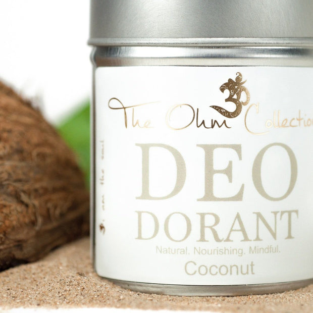 Powder Deodorant 120g - Coconut - The Ohm Collection Deodorant The Ohm Collection