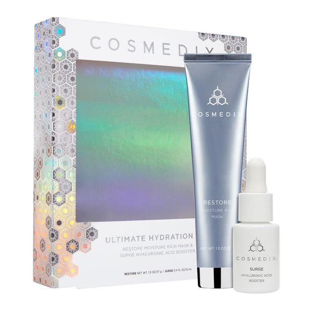 Ultimate Hydration Kit - Surge Hyaluronic Acid Booster (11.8 ml) & Restore Moisture-Rich Mask (36.85g) LIMITED EDITION Travel Kits Cosmedix