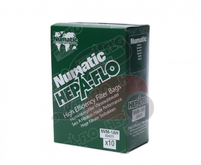 Numatic 604011 10 (NVM-1AH) Hepaflo Filter Bags (Model 130 Type)