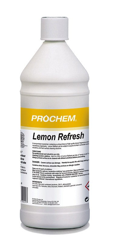 Prochem B117-01 Lemon Refresh 1 Litre x 4 MULTIBUY