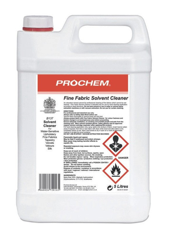 Prochem B137-05 Fine Fabric Solvent Cleaner 5 Litre