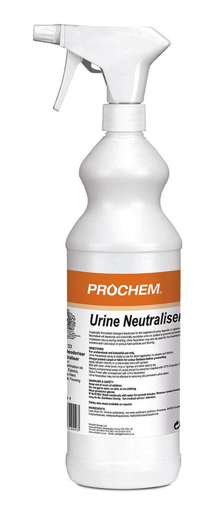 Prochem B153-01 Urine Neutraliser W/Spray 1 Litre