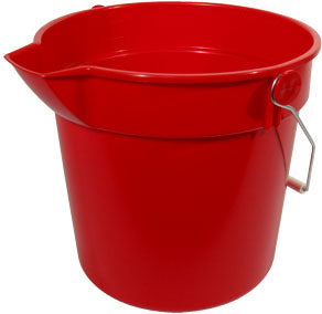 Prochem CN3503R Red 10 litre Bucket With Handle Lip And Volume Markings