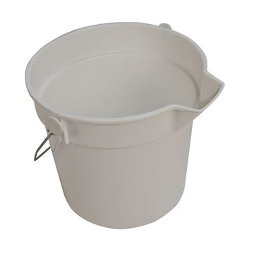 Prochem CN3503W White 10 litre Bucket With Handle Lip And Volume Markings