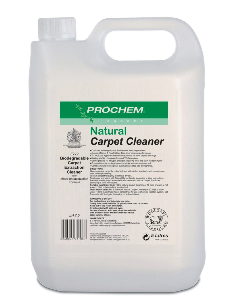 Prochem E772-05 Natural Carpet Cleaner 5 Litre