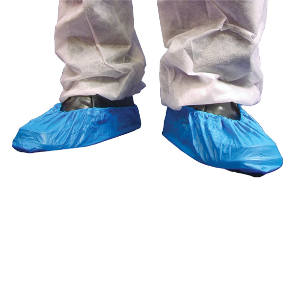 Professional Blue Plastic Overshoes Pack of 100pcs (50 Pairs) Carpet Protect