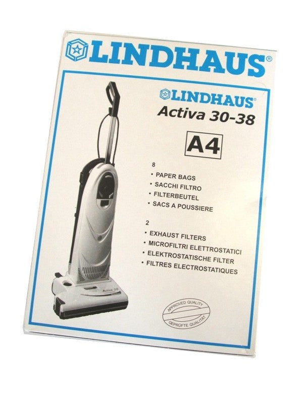 Lindhaus A4 Dynamic LH3303 Pack of 8 paper vacuum bags